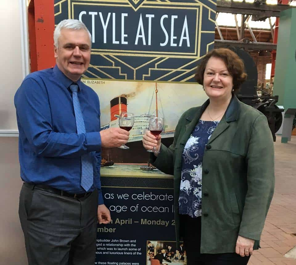 Dr Philippa Whitford, SNP MP for the Central Ayrshire constituency, attending the 'Style at Sea' exhibition at the Maritime Museum in Irvine.