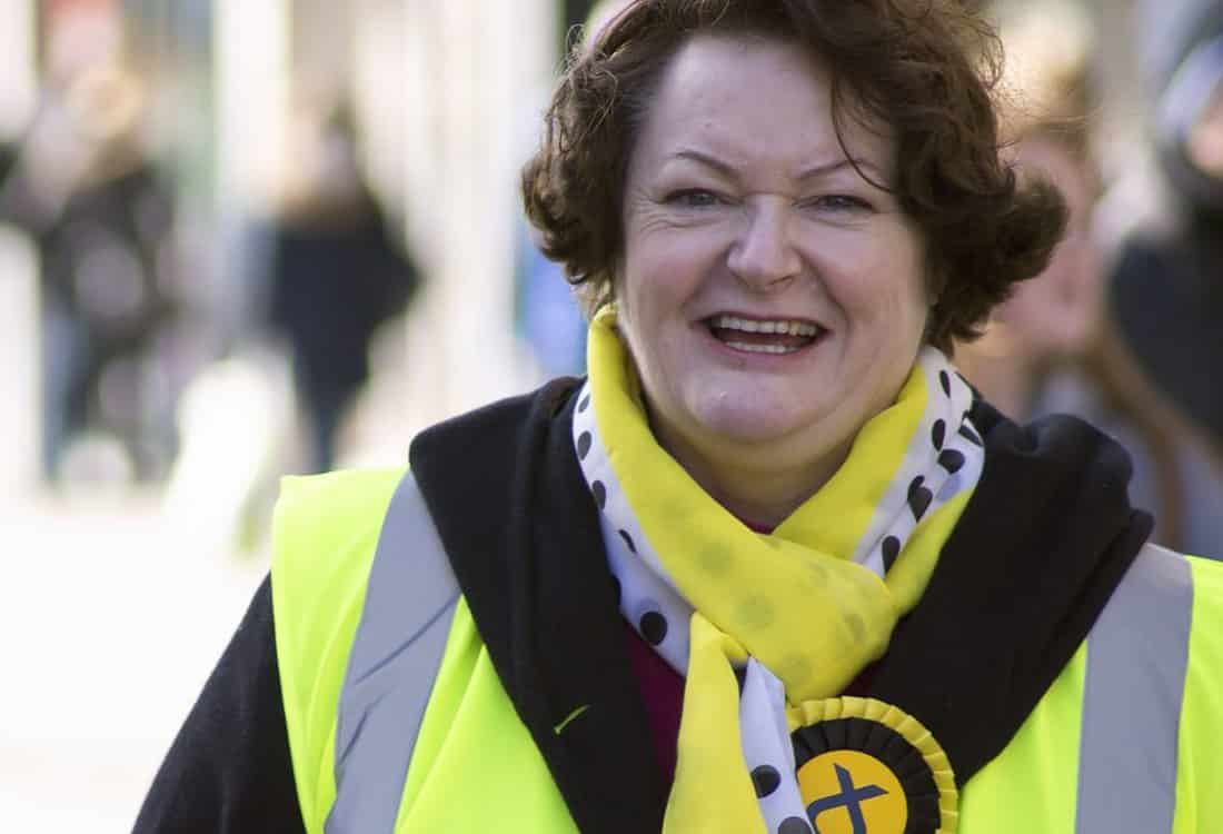 Record in Office. Dr Philippa Whitford campaigning in Irvine during the 2015 General Election campaign.