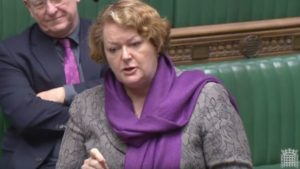 Dr Whitford questions the Minister for Brexit in Parliament as shown in Parliament Live