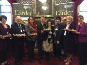 Dr Whitford pictured with her fellow Ayrshire MPs and the Ayrshire Council Chief Executives at the Ayrshire Larder showcase event at Westminster in January 2017
