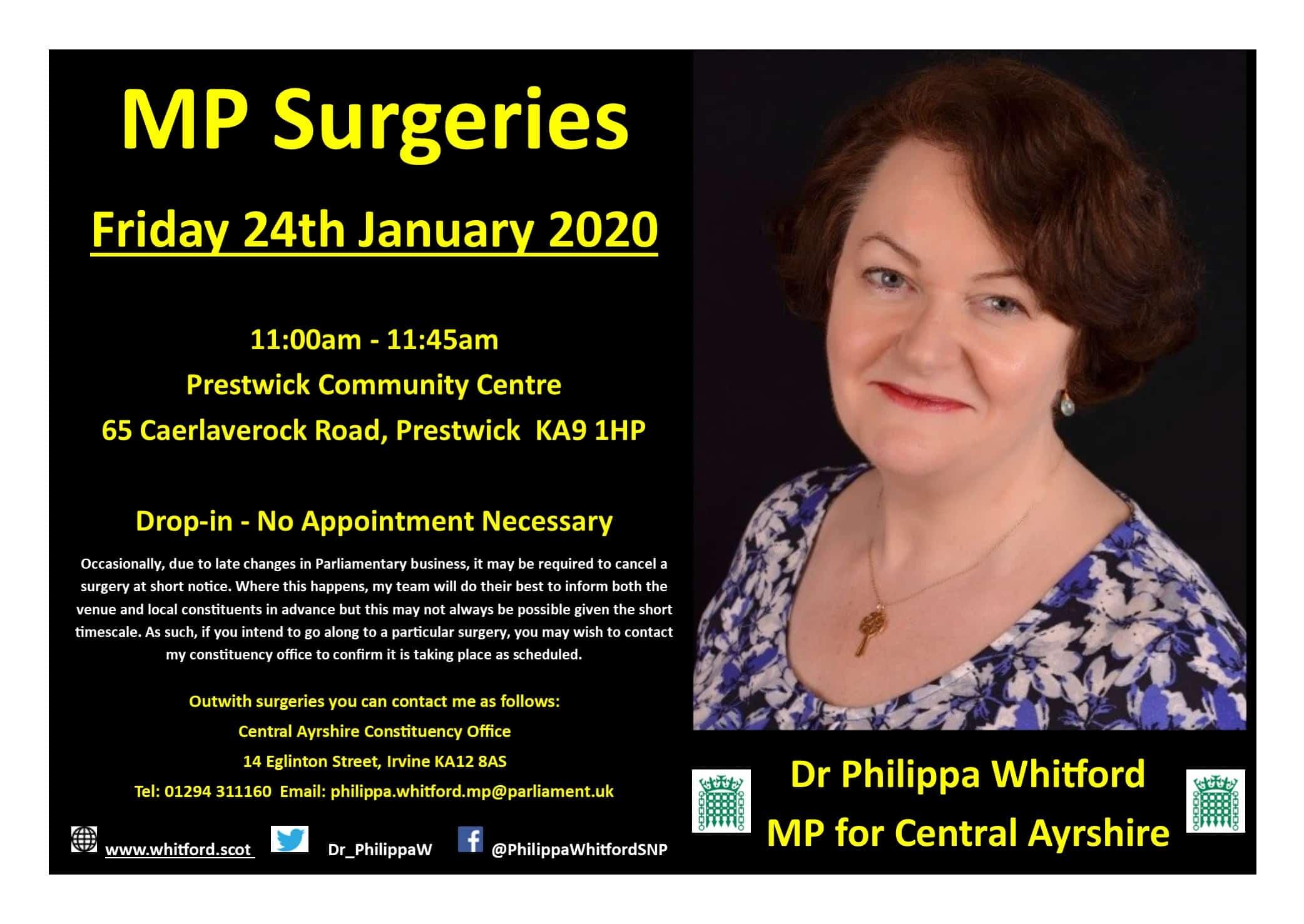 Drop-in Surgery Jan 2020