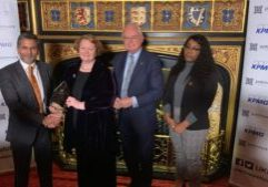 Dr Whitford being presented with the People's Choice MP of the Year Award by the Patchwork Foundation in December 2018