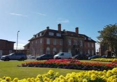MP Drop-in Surgery at Troon Municipal Buildings on Friday 24th August 2018. This is a photograph of the Troon Municipal Buildings on South Beach Road in Troon. The photo also shows the Troon Library gardens.